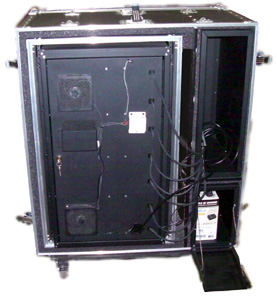 Laptop Lock-Up Deployable E-Tool Cabinet Model LL7D-07 (Rear View )